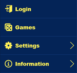 jet bingo mobile menu