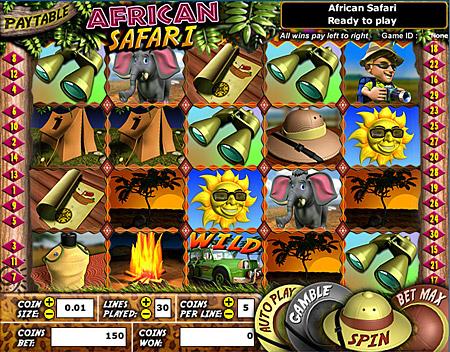 jet bingo african safari 5 reel online slots game