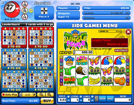 jet bingo 75 ball online bingo game