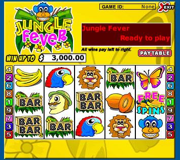 jet bingo jungle fever 5 reel online slots game