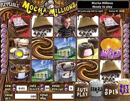 jet bingo mocha millions 5 reel online slots game