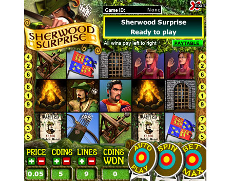jet bingo sherwood surprise 5 reel online slots game