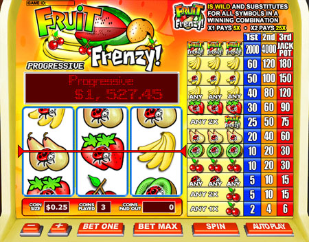 jet bingo fruit frenzy 3 reel online slots game