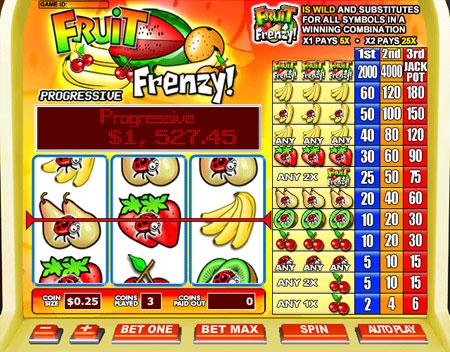 jet bingo fruit frenzy 3 reel online slots game