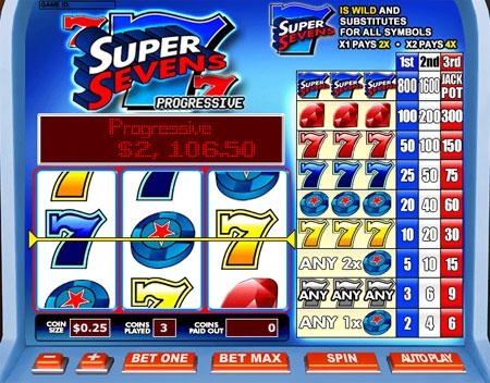 jet bingo super sevens 3 reel online slots game
