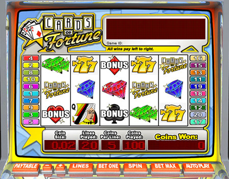 jet bingo cards of fortune 5 reel online slots game