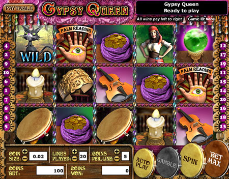 jet bingo gypsy queen 5 reel online slots game
